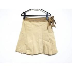【中古】 バーバリーブルーレーベル スカート サイズ38 M レディース ベージュ ライトブラウン