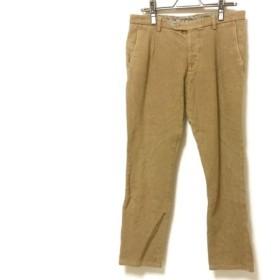 【中古】 ベルウィッチ BERWICH パンツ サイズ46 XL メンズ ベージュ 黒 ライトグレー