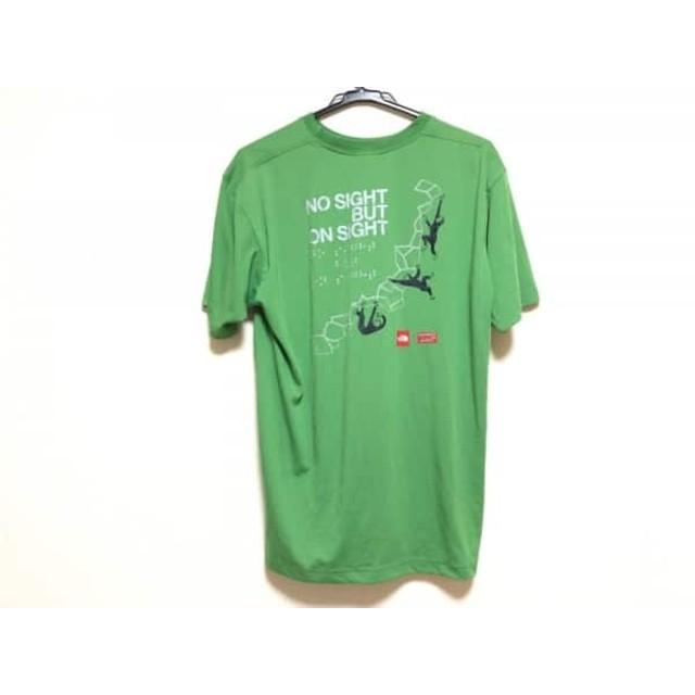 【中古】 ノースフェイス THE NORTH FACE 半袖Tシャツ サイズXS メンズ ライトグリーン グレー マルチ