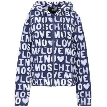 《セール開催中》LOVE MOSCHINO レディース スウェットシャツ ダークパープル 38 コットン 95% / ポリウレタン 5%