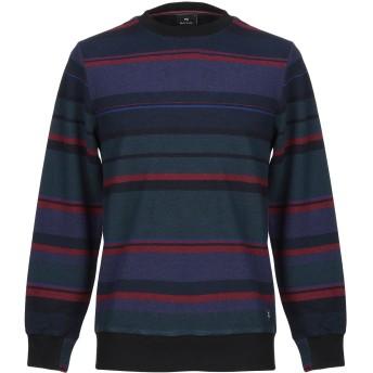 《9/20まで! 限定セール開催中》PS PAUL SMITH メンズ スウェットシャツ ブラック S コットン 100%
