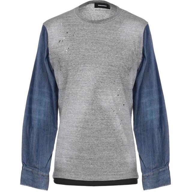 《セール開催中》DSQUARED2 メンズ スウェットシャツ グレー L コットン 100% / ポリウレタン