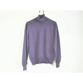 【中古】 グランサッソ gran sasso 長袖セーター サイズ46 XL メンズ パープル タートルネック