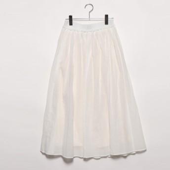 コムサイズム COMME CA ISM ギャザースカート (ホワイト)