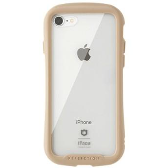 [iPhone 8/7専用]iFace Reflectionハイブリッドガラスケース(ベージュ) 41-907146