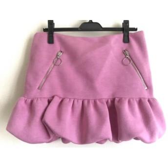 【中古】 モスキーノ チープ&シック MOSCHINO CHEAP & CHIC ミニスカート サイズ42 M レディース ピンク