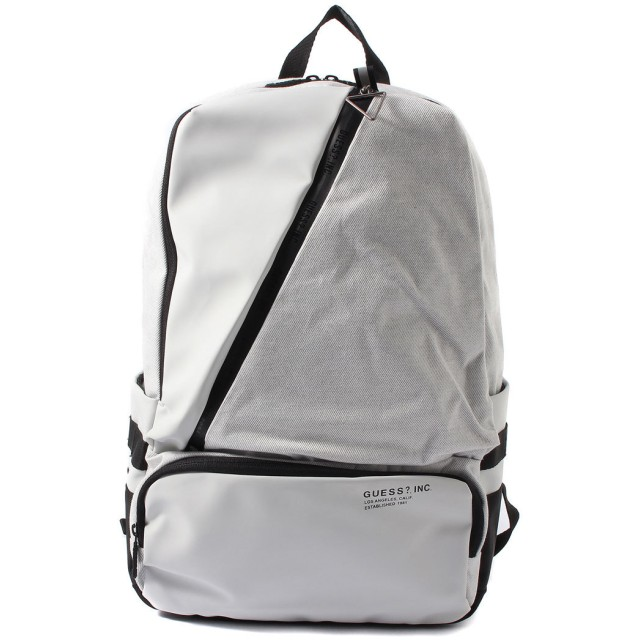 ゲス GUESS MATTE TWILL BACKPACK (LIGHT GREY)