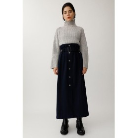 【50%OFF】 マウジー FRONT BUTTON TR ロングスカート レディース D/NVY3 2 【MOUSSY】 【セール開催中】