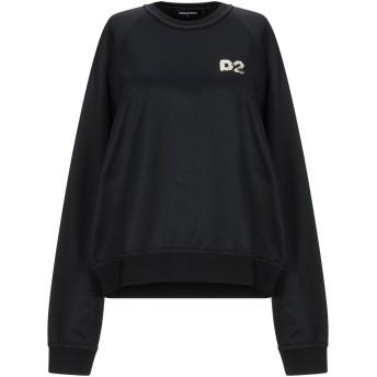 《セール開催中》DSQUARED2 レディース スウェットシャツ ブラック XS ポリエステル 55% / コットン 45%