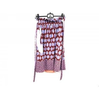【中古】 ツモリチサト TSUMORI CHISATO スカート サイズ2 M レディース ボルドー ブルー マルチ
