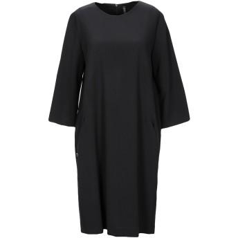《セール開催中》MANILA GRACE レディース ミニワンピース&ドレス ブラック 38 ポリエステル 68% / レーヨン 28% / ポリウレタン 4%