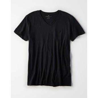 【アメリカンイーグル】AEロゴVネックスラブTシャツ