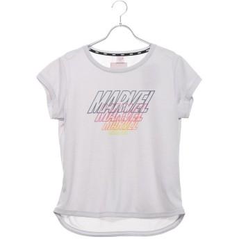 マーベル MARVEL レディース フィットネス 半袖Tシャツ MV-3F2009TS