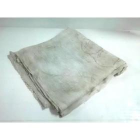 【中古】 アンテプリマ ストール(ショール) 美品 ライトグレー ゴールド フラワー/ラメ コットン シルク