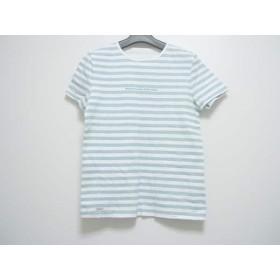 【中古】 マドモアゼルノンノン 半袖Tシャツ サイズM レディース ライトブルー 白 ボーダー