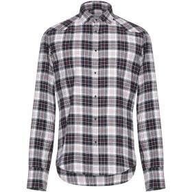 《期間限定セール開催中!》AGLINI メンズ シャツ グレー 40 コットン 100%
