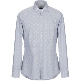 《セール開催中》OPIFICIO MILANO M メンズ シャツ ブルーグレー 40 コットン 100%