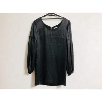 【中古】 ルシェルブルー LE CIEL BLEU チュニック サイズ38 M レディース 美品 黒 シルク/ジップアップ