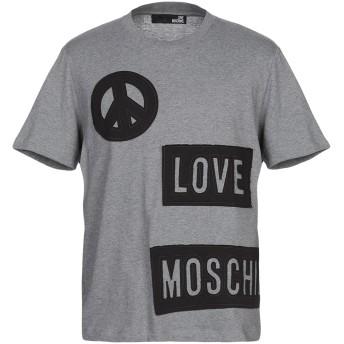 《期間限定セール開催中!》LOVE MOSCHINO メンズ T シャツ グレー S コットン 100%