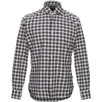 《セール開催中》XACUS メンズ シャツ ダークブルー 41 コットン 100%