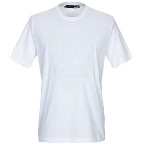《期間限定 セール開催中》LOVE MOSCHINO メンズ T シャツ ホワイト XS コットン 100%