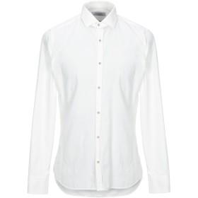 《期間限定セール開催中!》AGLINI メンズ シャツ アイボリー 43 コットン 100%
