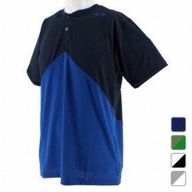 オークリー OAKLEY メンズ テニス 半袖Tシャツ Enhance Slant Henley 9.0 457723