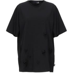 《期間限定セール開催中!》LOVE MOSCHINO レディース T シャツ ブラック 40 コットン 100%