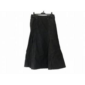 【中古】 インゲボルグ INGEBORG ロングスカート サイズL レディース 黒 デニム
