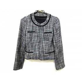 【中古】 アナイ ANAYI ジャケット サイズ36 S レディース 黒 ライトグレー ツイード