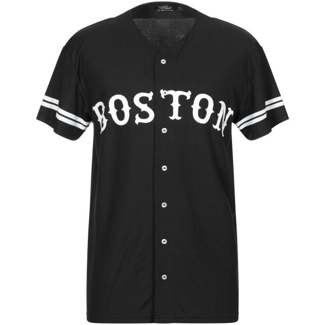 《期間限定セール開催中!》TOPMAN メンズ シャツ ブラック XL ポリエステル 100%