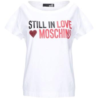 《セール開催中》LOVE MOSCHINO レディース T シャツ ホワイト 46 コットン 93% / ポリウレタン 7%