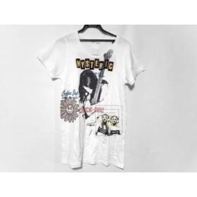 【中古】 ヒステリックグラマー HYSTERIC GLAMOUR 半袖Tシャツ サイズF レディース 白 黒