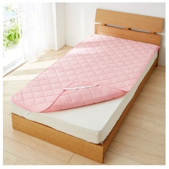 接触冷感×吸汗速乾タオル地リバーシブル敷パッド 敷きパッド・ベッドパッド