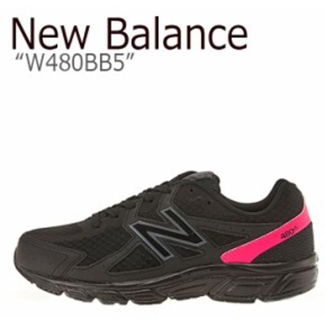3e4b468c67b43 ニューバランス スニーカー New Balance メンズ レディース W 480 BB 5 BLACK ブラック W480BB5 シューズ