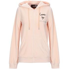 《期間限定 セール開催中》LOVE MOSCHINO レディース スウェットシャツ あんず色 38 コットン 85% / ポリエステル 15%