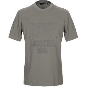 《9/20まで! 限定セール開催中》LOVE MOSCHINO メンズ T シャツ ミリタリーグリーン S コットン 100%