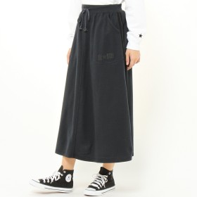 ミニ裏毛脇ラインマキシスカート