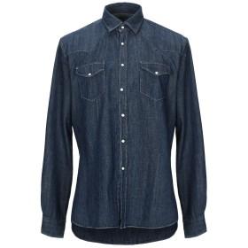 《期間限定 セール開催中》XACUS メンズ デニムシャツ ブルー 42 コットン 100%