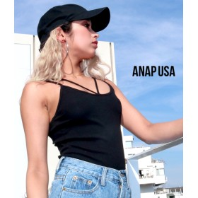 【セール開催中】ANAP(アナップ)Vストラップリブキャミソール