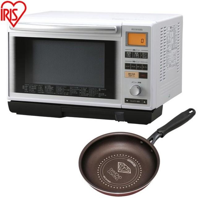電子レンジ 一人暮らし スチームオーブンレンジ MS-2402+ダイヤモンドコートフライパン 20cm アイリスオーヤマ