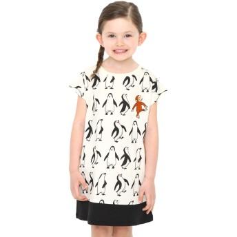 ペンギン パターン (おさるのジョージ ボックス ワンピース)