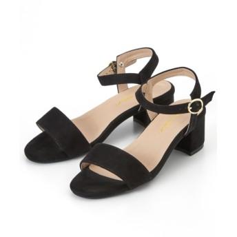 ミドルヒールサンダル(低反発中敷)(ワイズ4E) サンダル, Sandals