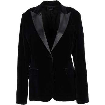 《期間限定セール開催中!》ATOS LOMBARDINI レディース テーラードジャケット ブラック 44 コットン 99% / ポリウレタン 1% / ポリエステル / アセテート