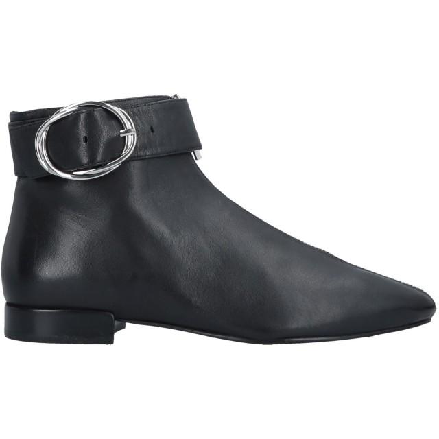 《セール開催中》WHAT FOR レディース ショートブーツ ブラック 36 羊革(シープスキン) / 伸縮繊維