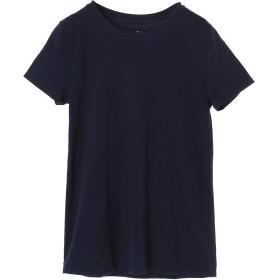 three dots 【ウォッシャブル】Sanded Jersey Crew Classic Tee Tシャツ・カットソー,NAVY