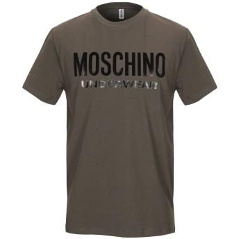 《9/20まで! 限定セール開催中》MOSCHINO メンズ アンダーTシャツ ミリタリーグリーン XS コットン 98% / ポリウレタン 2%