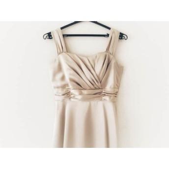 【中古】 プリフェレンスパーティーズ ドレス サイズ38 M レディース 美品 ベージュ 光沢あり