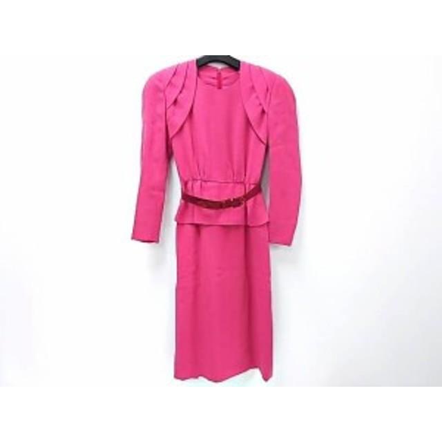 ジュンアシダ JUN ASHIDA ワンピース サイズ7 S レディース 美品 ピンク 肩パッド【中古】