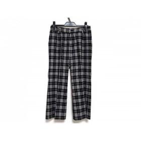 【中古】 バーバリーゴルフ BURBERRYGOLF パンツ サイズ9 M レディース 美品 黒 白 チェック柄